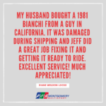 Thank you Diane for the great review!   We hope he can keep riding it for many years to come.